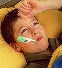 Child ill with spinal meningitis symptoms