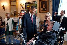 President Barack Obama meets Stephen Hawking