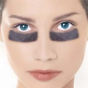 dark circles (exagerrated) under your eyes can be lessened